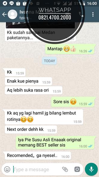 Pie Susu Asli Enaaak terkirim ke Medan Sumatera Utara