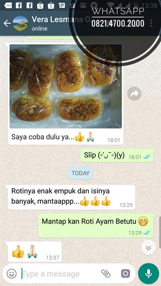 Roti Ayam Betutu dikirim ke rumah Jakarta
