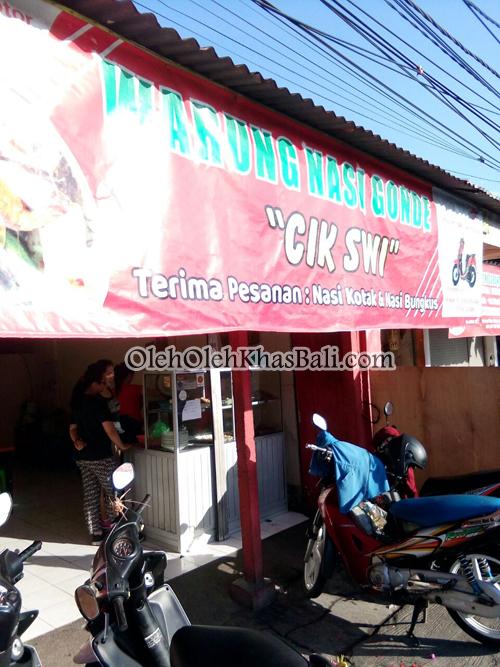 banner warung nasi gonde cik swi