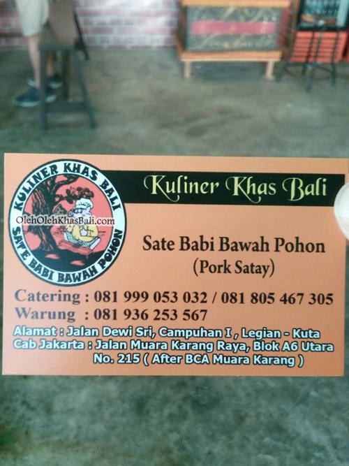 kartu nama sate babi bawah pohon