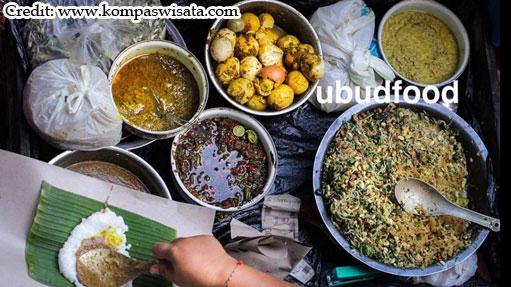 Nasi Tepeng kuliner tradisional berasal dari Gianyar