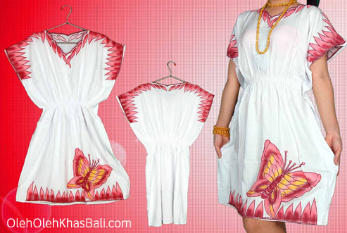 Dress Bordir Bali Motif Kupu Cantik