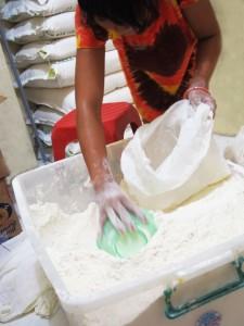 bahan dasar pie susu bali, tepung