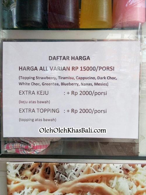 daftar harga raja pisang keju bali