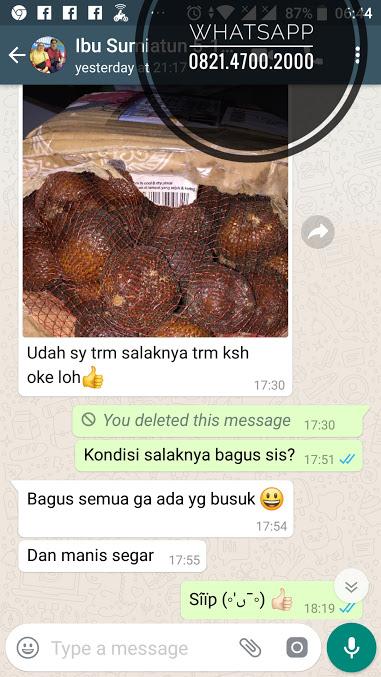 bukti Salak Gula Pasir kirim ke Astana Anyar Bandung, tiba dengan sangat selamat