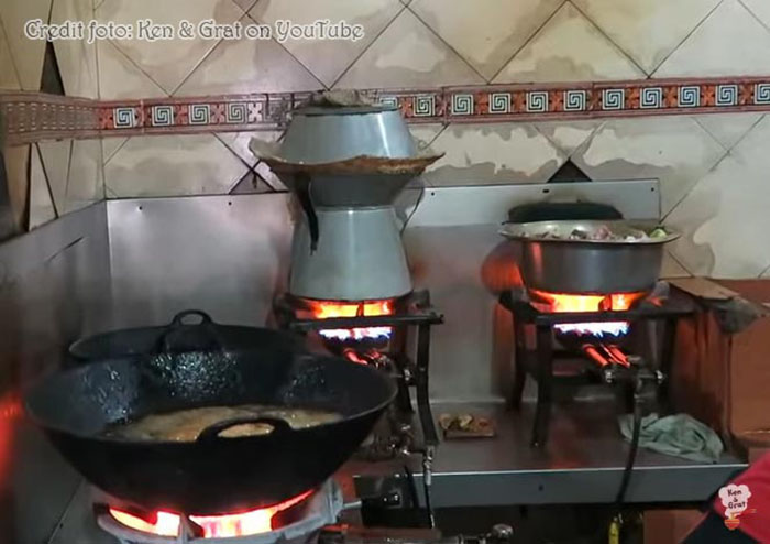 Proses masak sup ikannya