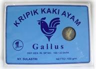 kripik ceker gallus kemasan 100 gram