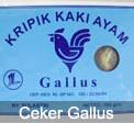 Kripik ceker ayam Gallus
