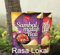 Rasa Lokal Indonesia - kripik singkong sambal matah bali